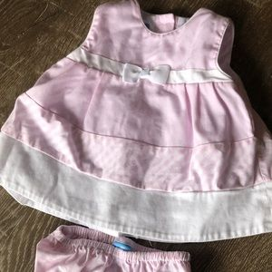 Anavini Hand smocked top & bloomer cover, 3M
